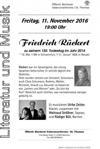 Friedrich Rückert,  Literatur und Musik