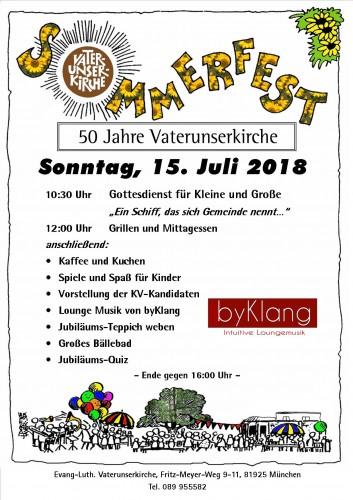 Sommerfest-Plakat 2018