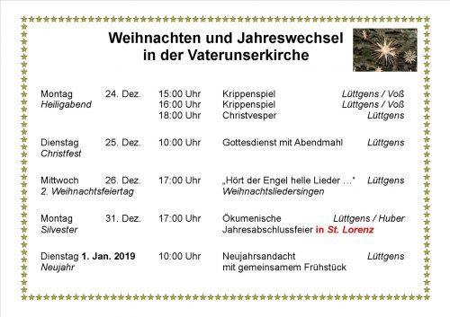 Gottesdienst @ München: Vaterunserkirche München Oberföhring